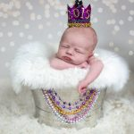 Newborn New Year Photo  Jamie Romaezi Photography | Northern VA Newborn Photographer