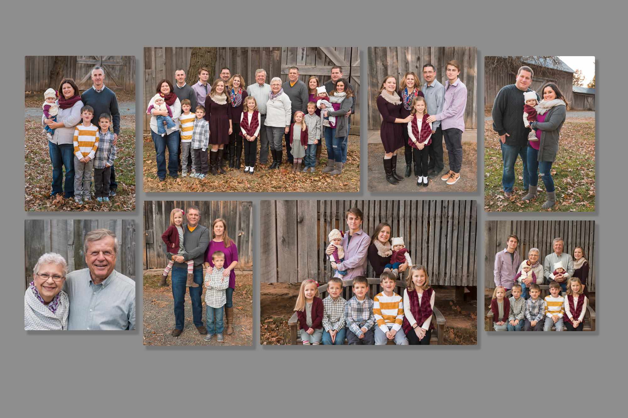8 canvas gallery wall for extended family photos