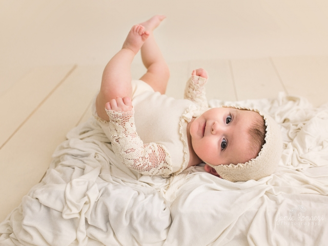 Jamie Romaezi Photography 3 Month old Neutral Twin Session
