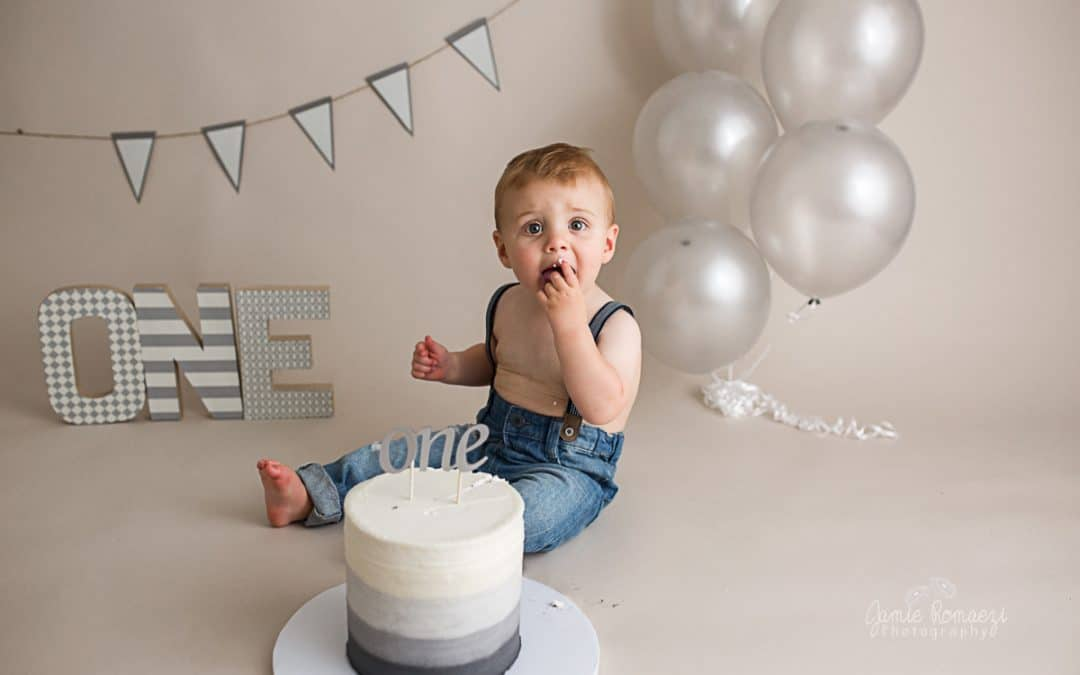 Nolan's First Birthday Milestone Photos!